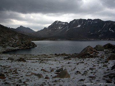 Wanda Lake with fresh snow.