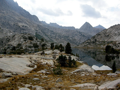 We set up camp at Evolution Lake then headed out to dayhike to Muir Pass for the afternoon (about 12 miles round trip from the Lake).