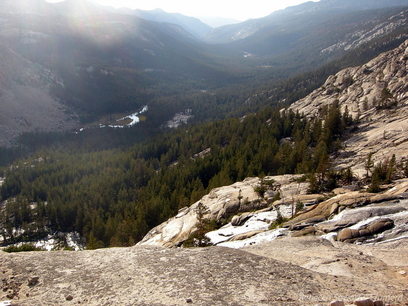 Looking down the waterfall to Evolution Valley and the Creek below. We'll be heading that way tomorrow.