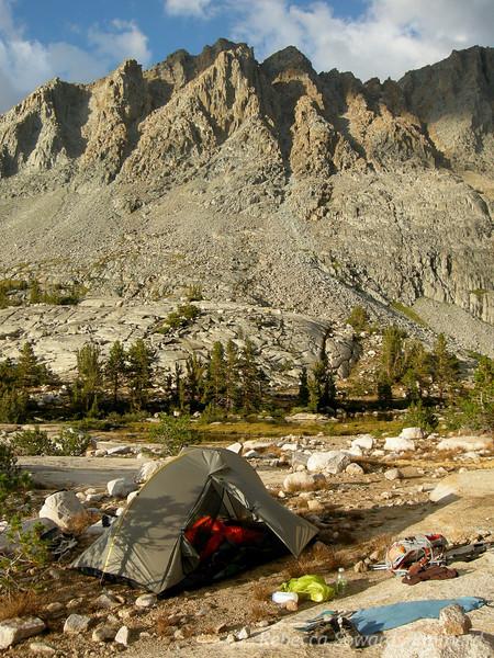 Camp below Mt Mendel