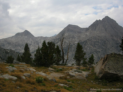 Across from the Hermit. We picked up trail again around here - it's not far to the JMT.