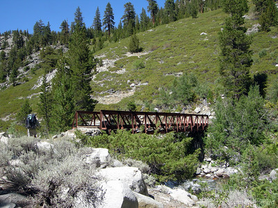 After walking along the west side of the river there is another bridge to cross us back to the national park side.