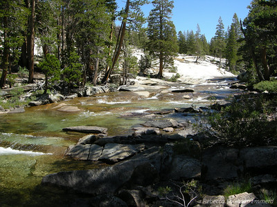 Evolution Creek as it tumbles down to join the San Joaquin River