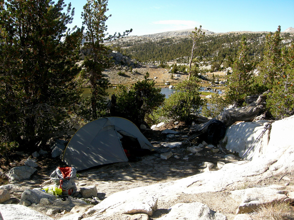 Camp at Upper Golden Trout Lake