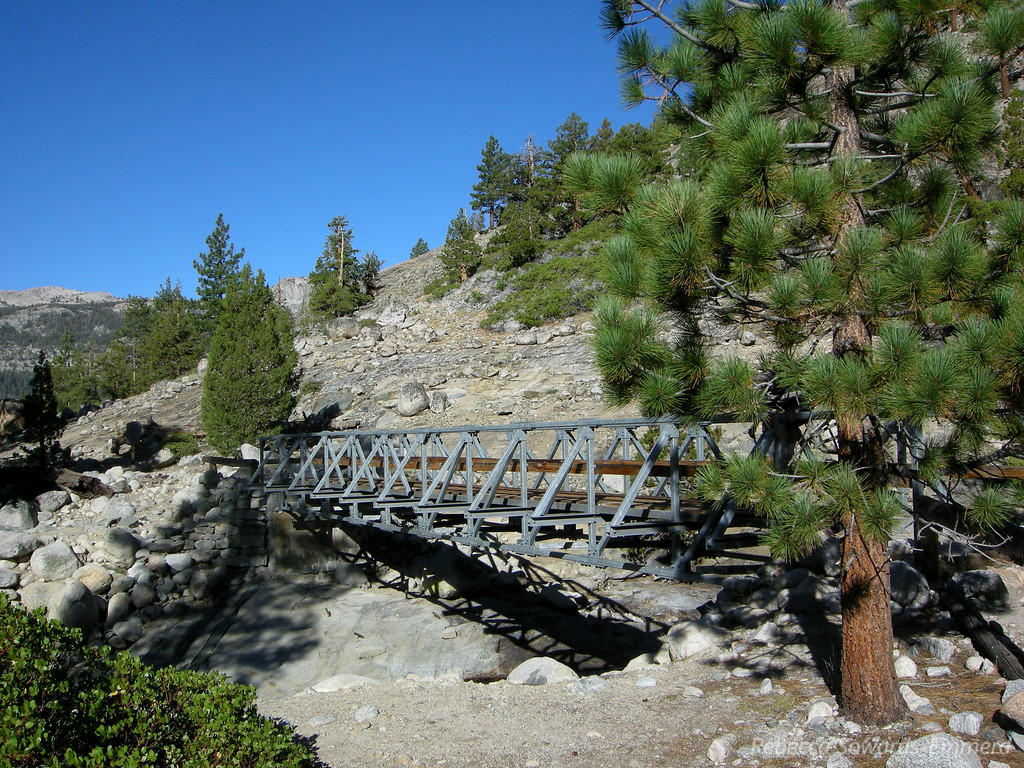 Bridge where Piute Canyon meets the San Joaquin. We'll hope off the JMT here and start up the Canyon