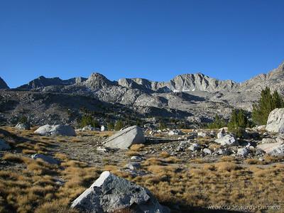 Glacier Divide peaks: Muriel Peak, Mt Goethe