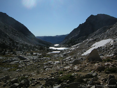 Looking down Bishop Creek North Fork towards the the trailhead.
