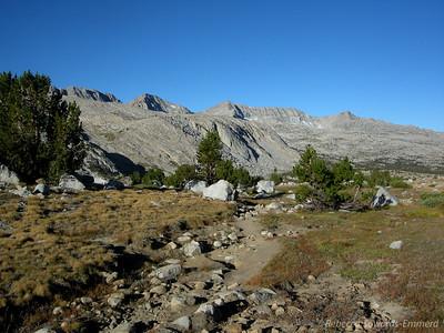 Rocky trail through Humpreys Basin
