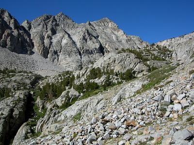 The last peek at the high granite peaks surrounding us