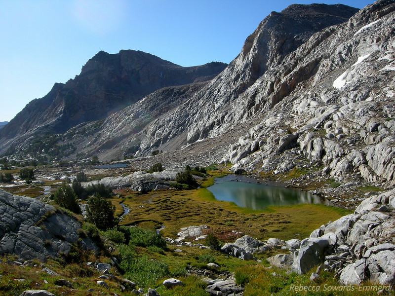 Unnamed lakes/ponds below the pass