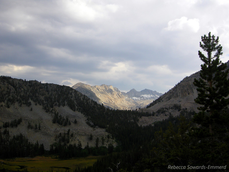 Looking towards the Lake Sabrina basin.