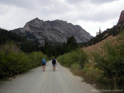 Pavla and David heading towards the trail
