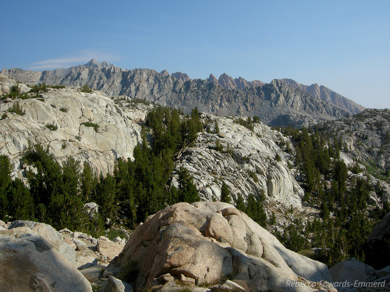 View towards the Piute Crags a few ridges over