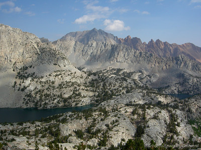 Piute Crags and the two Lamarck Lakes