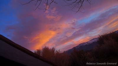View from my tent (I had to jump back in my sleeping bag to warm up) Sunrise, Christmas Day 2010