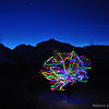 Fun with Christmas Lights and Lone Pine Peak silhouette. december 23, 2010
