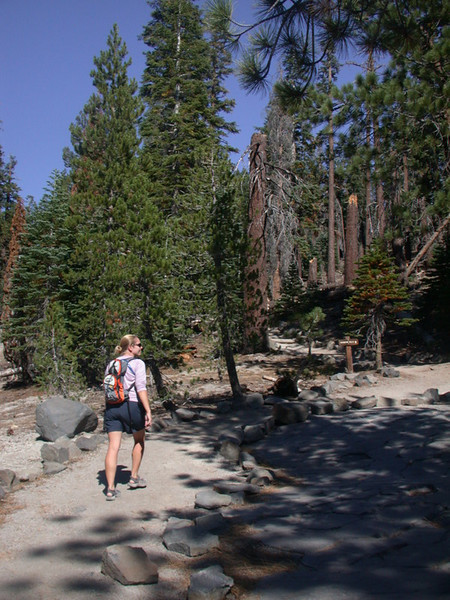 Moving on<br /> <br /> This area is a main entrance into the Ansel Adams wilderness area. We didn't have much time to explore deep into the wilderness, but we did take the 2.5 mile hike from the Postpile to Rainbow Falls.