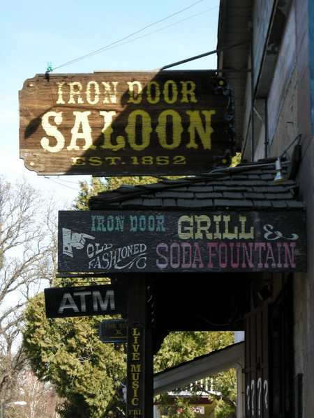 Lunch stop on the way out - the Iron Door in Groveland.