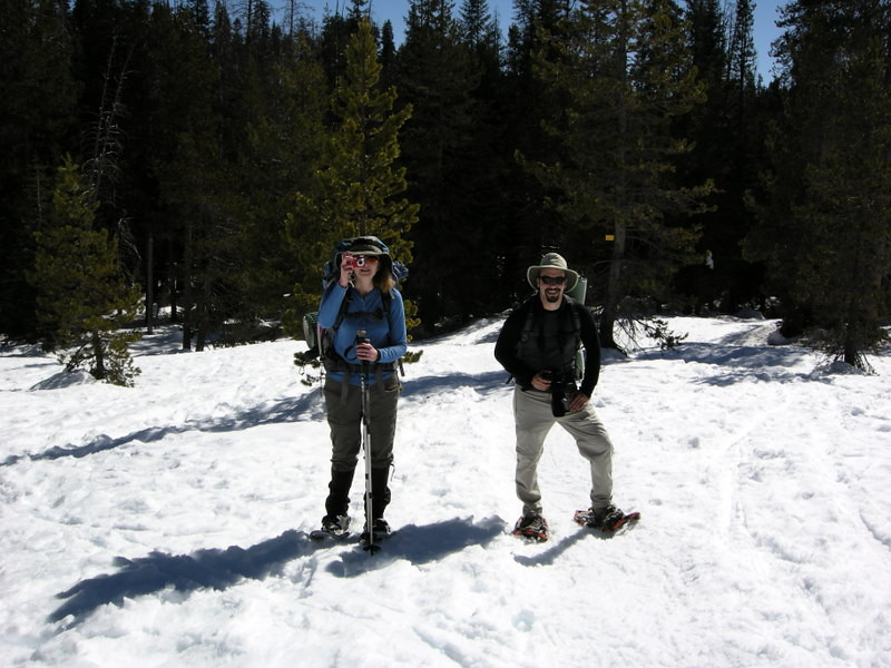Pavla and Dave - off of the road, now on the trail to Dewey Point