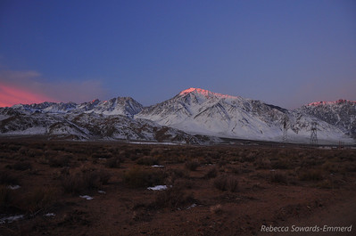 Christmas Morning sunrise from our campsite in The Pit outside Bishop