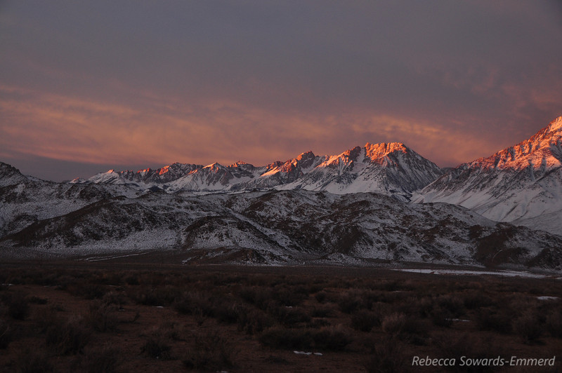Day after christmas - sunrise over Basin Mountain and Mt Humphreys