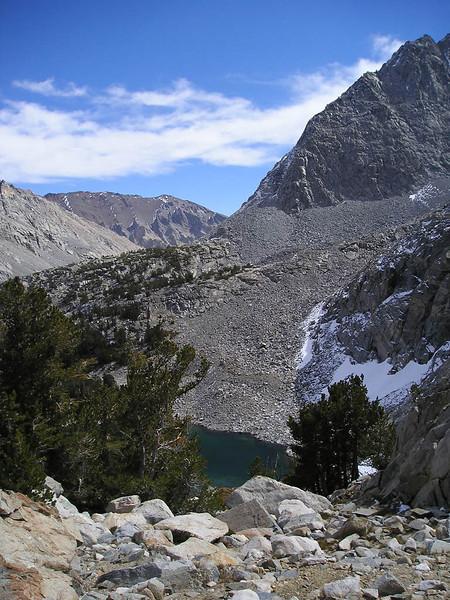 Looking down on Gem lake and Morgan pass.