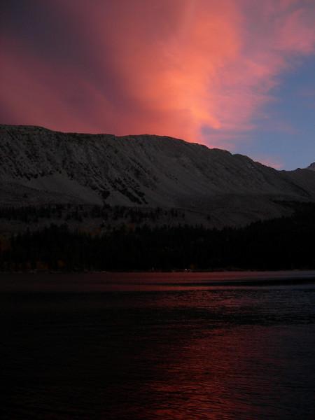 Sunset over Rock Creek Lake
