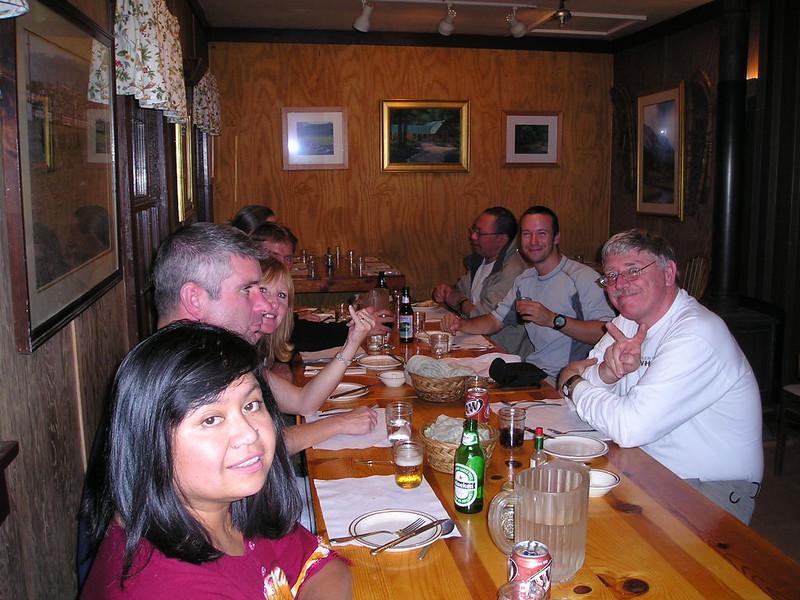 Dinner at Rock Creek Lodge - Friday night