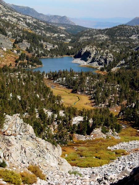 Long Lake<br /> <br /> Looking back toward long lake as we ascended toward Treasure Lakes