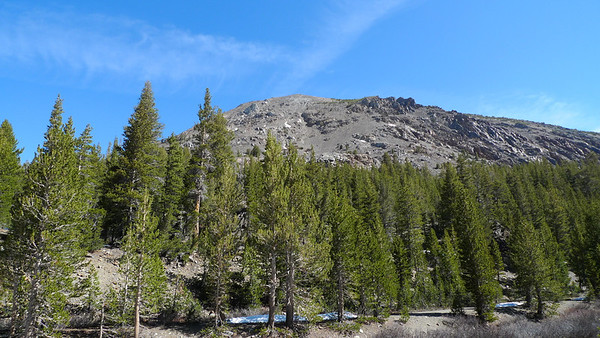 Tioga Peak was snow free on the south facing side.