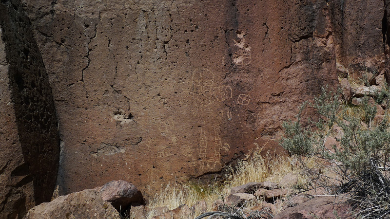 On our way out of the sads we found some petroglyphs.