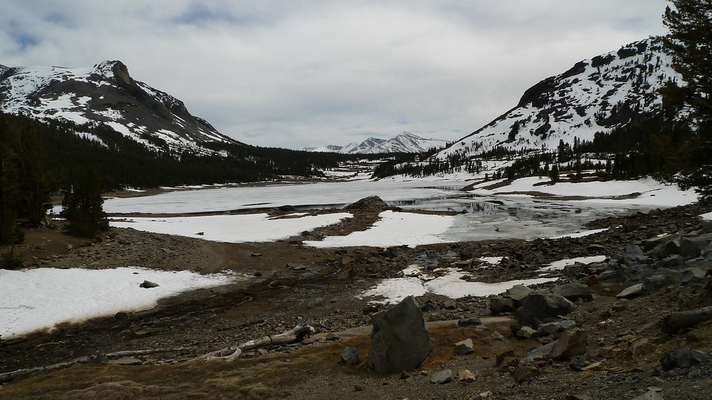 Tioga lake, gonna be really dry this summer.