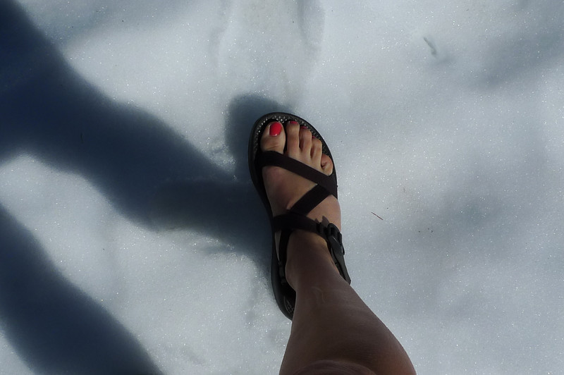 Chacos and snow. I love this time of year.