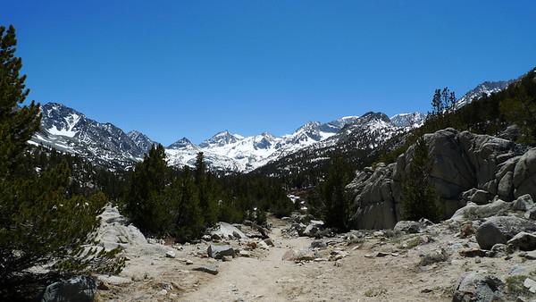 One of my favorite views in the Sierra. Bear Creek Spire, Mt Date, Mt Abbot, Mt Mills