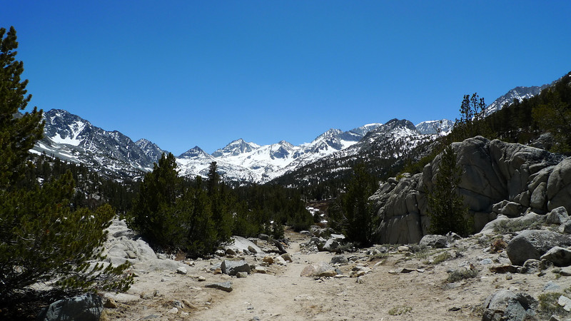 One of my favorite views in the Sierra. Bear Creek Spire, Mt Date, Mt Abbot, Mt Mills