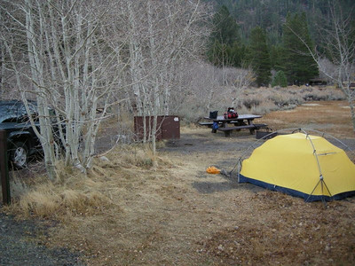 Campsite - a few weeks ago the aspens here would have been gorgeous