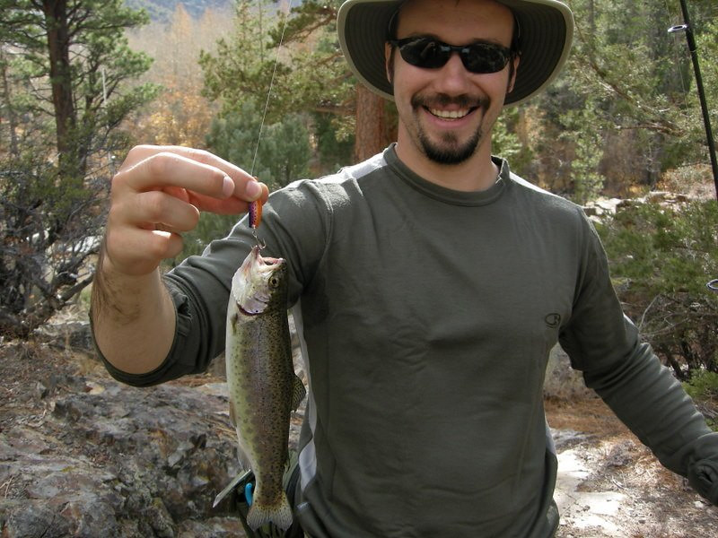 A Cutthroat trout that Dave caught along Rush Creek
