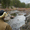 Dave fishing Saddlebag Creek<br /> <br /> In his goofy Elmer Fudd hat