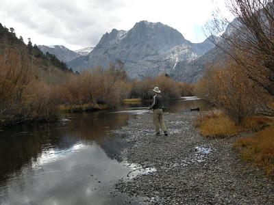 Dave fishing Rush Creek