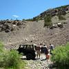 Making turkey sandwiches at Geobrown's Jeep