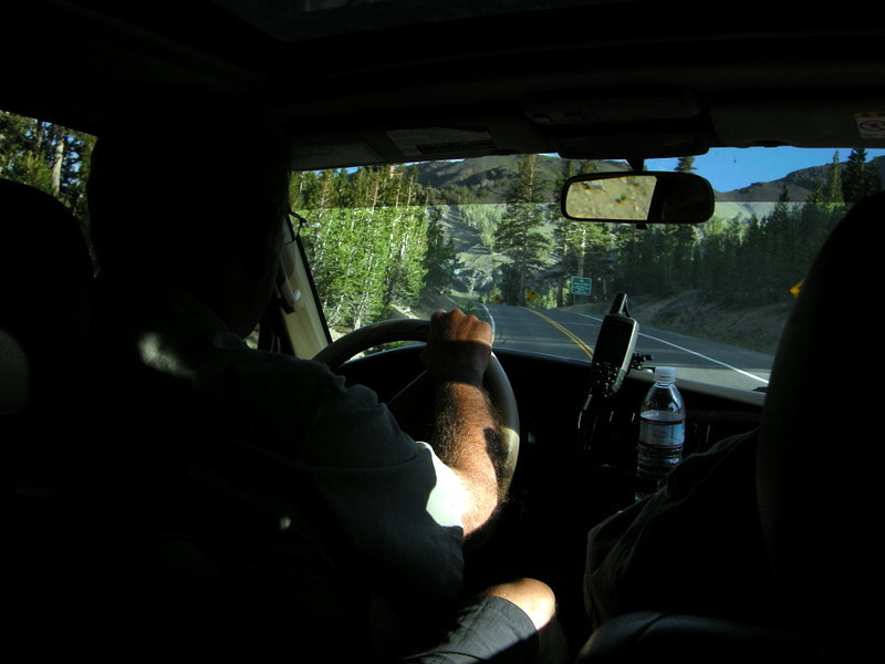Motorbug motors over Sonora Pass