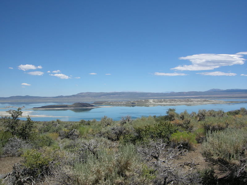 Mono Lake from black crater.