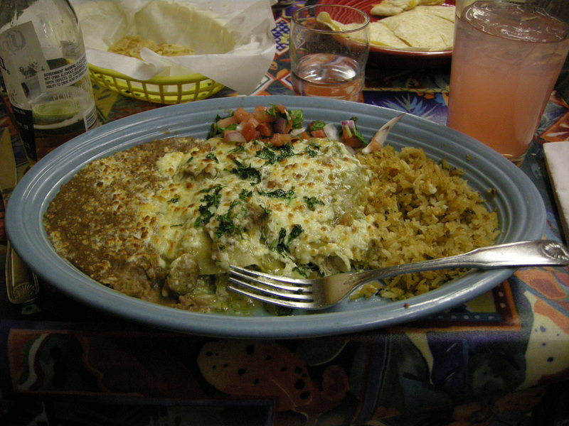 Dinner at Amigos in Bishop. Omnomnomnom.