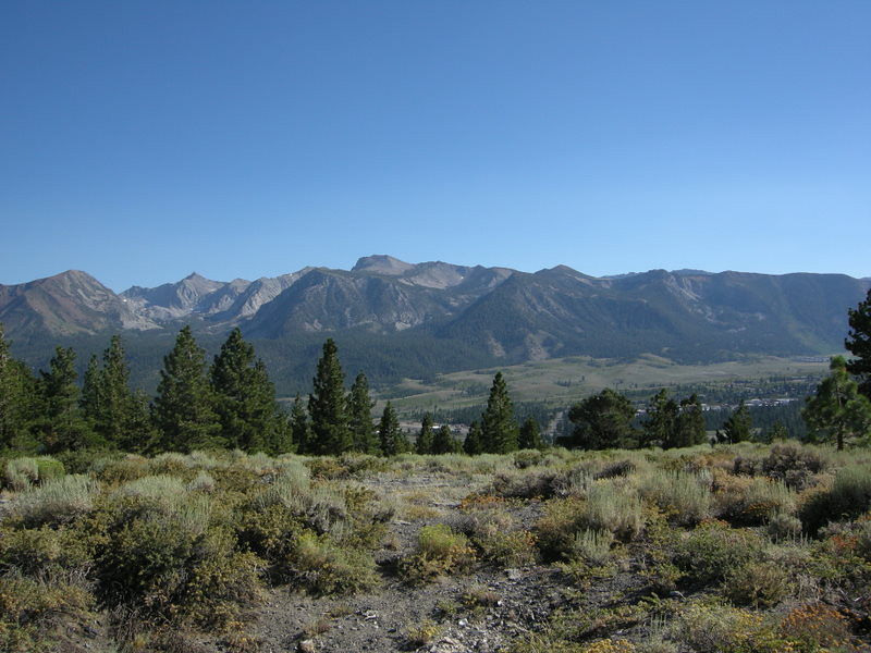View from a hillside just north of Mammoth Lakes