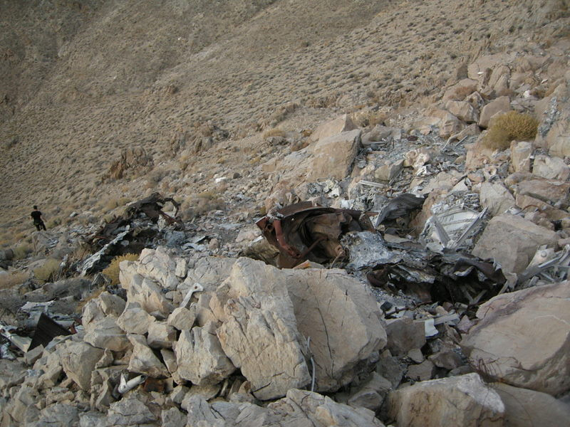 Crash site - steep terrain here. Not easy to get to, even if you know the best approach.