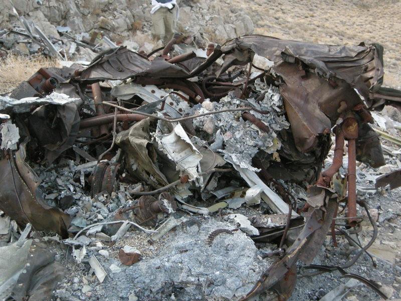 Crash debris