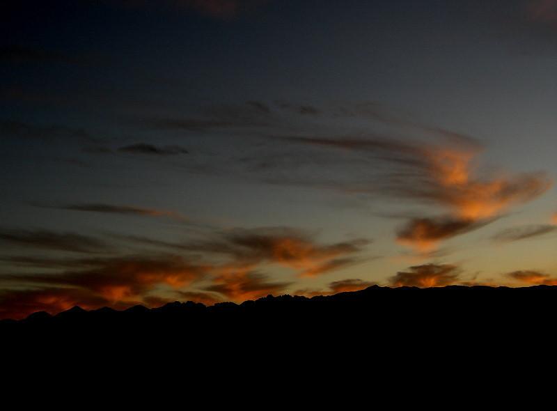 Sunset from flight 802
