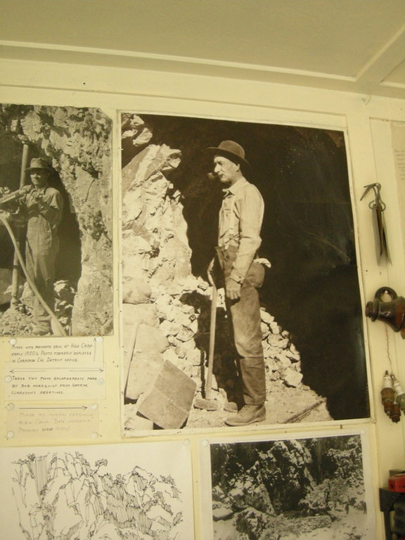 Photos on the museum walls