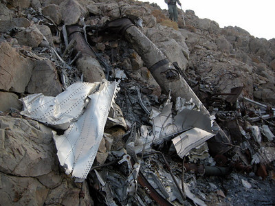 Large remains of the plane.