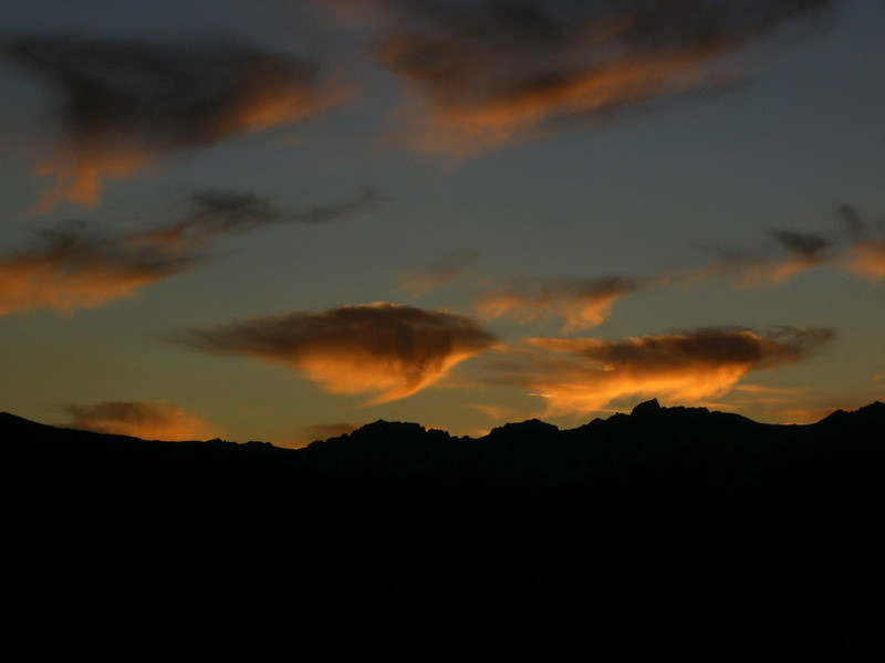 Sunset over mt humphreys